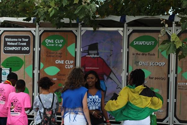 Green toilets at carnival. Photo courtesy CaribDirect