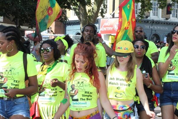 Majestic Mas Movement T Shirt section on parade. Photo courtesy CaribDirect