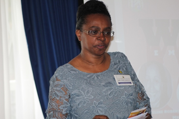 Event organiser Mrs. Doris Charles – Minister Counsellor/Deputy High Commissioner. Photo courtesy CaribDirect
