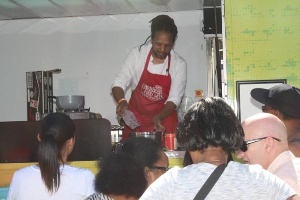 Chef Hasan DeFour doing his thing. Photo courtesy CaribDirect
