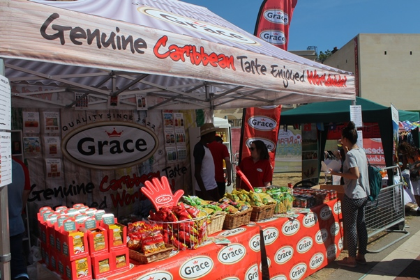 The Grace Foods UK stall. Photo courtesy CaribDirect