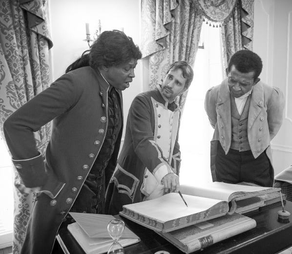 Actors: JD Douglas, Equianio.  Merric Boyd Commissioner Bullen. Errol Hines, William Cuffay.
