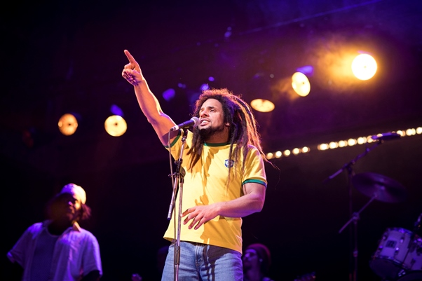 Mitchell-Brunings as Bob-Marley in One-Love. Photo courtesy Helen Maybank