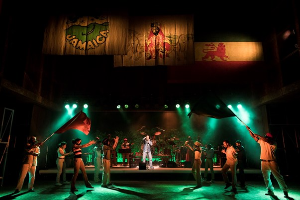 The cast of One Love - The Bob Marley Musical. Photo courtesy Helen Maybank