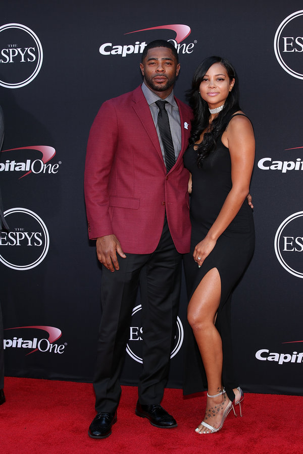 LOS ANGELES, CA - JULY 12:  Malcolm Butler (L) attends The 2017 ESPYS at Microsoft Theater on July 12, 2017 in Los Angeles, California.  (Photo by Phillip Faraone/Patrick McMullan via Getty Images)