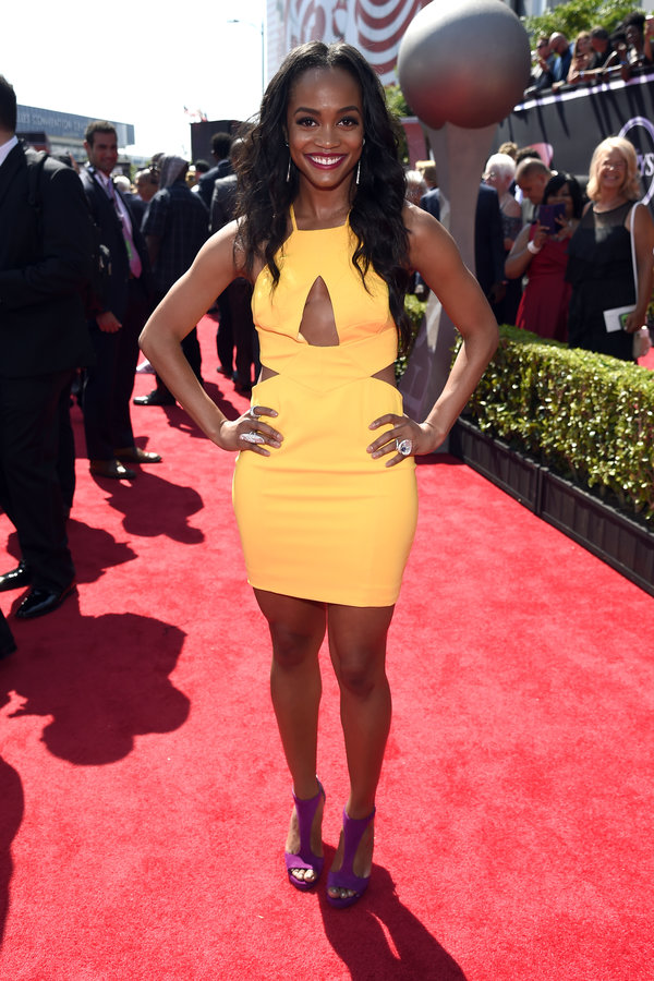 LOS ANGELES, CA - JULY 12:  TV personality Rachel Lindsay attends The 2017 ESPYS at Microsoft Theater on July 12, 2017 in Los Angeles, California.  (Photo by Kevin Mazur/Getty Images)