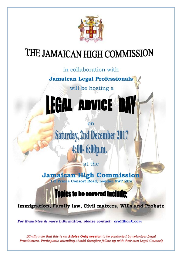 Flyer - Legal Advice Day - 2nd Dec. 2017