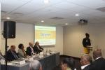 Tourism Attache, Ms Achi-Kemba Phillips giving speech