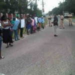 APNU pickets Police Commissioner's office