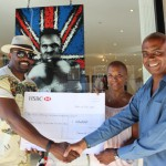 Dereck Chisora presents £20,000 cheque to David Haye's charity of choice; ACLT