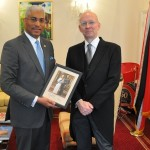 H.M's Marshal of the Diplomatic Corps honours HC Nicholas