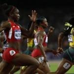 Jamaican Fraser-Pryce completes world 100m treble